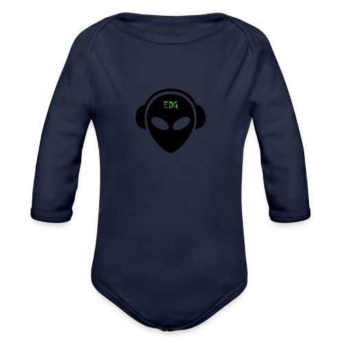 ErDuGamer LOGO - Langærmet babybody, økologisk bomuld