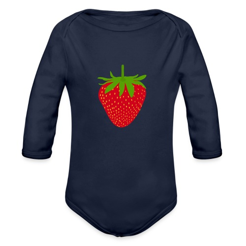 Sweet strawberry - Sweet Strawberry - Organic Longsleeve Baby Bodysuit