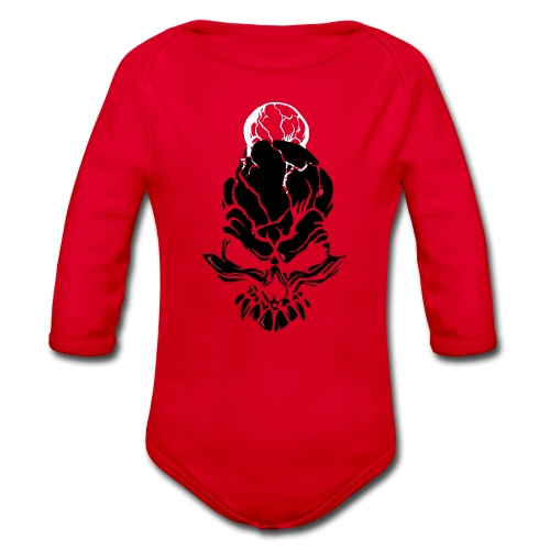 F noize fronte png - Organic Longsleeve Baby Bodysuit