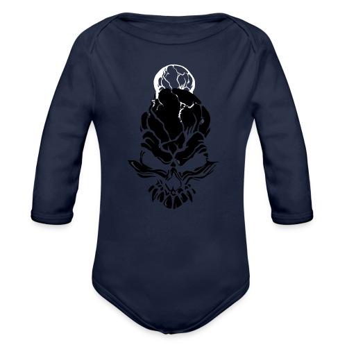 F noize fronte png - Organic Longsleeve Baby Bodysuit