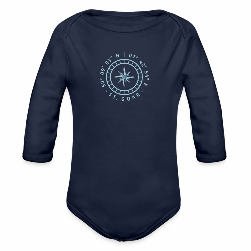 Kompass St. Goar - Baby Bio-Langarm-Body