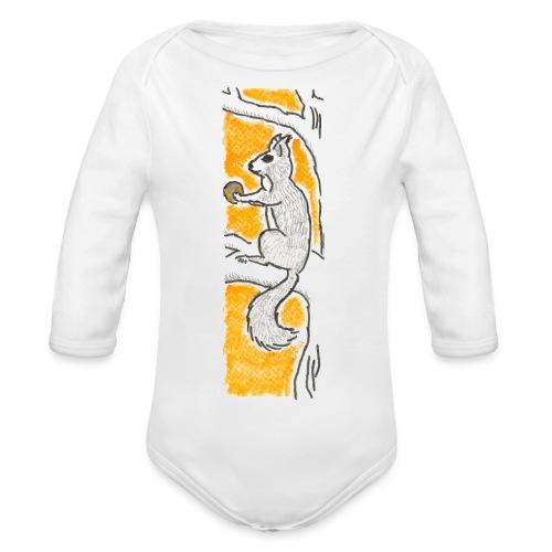 scoiattolo_alma_2015 - Body ecologico per neonato a manica lunga