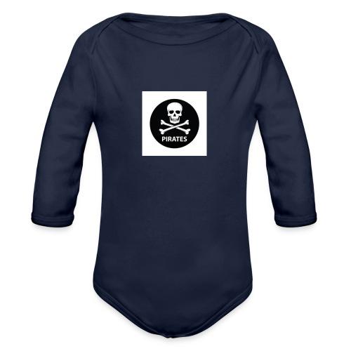 skull-and-bones-pirates-jpg - Baby bio-rompertje met lange mouwen