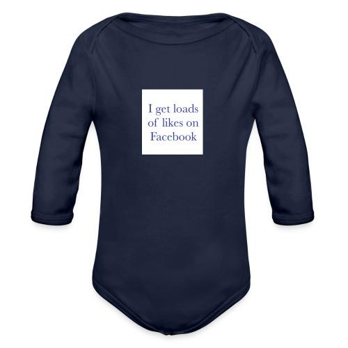 Facebook likes - Organic Longsleeve Baby Bodysuit