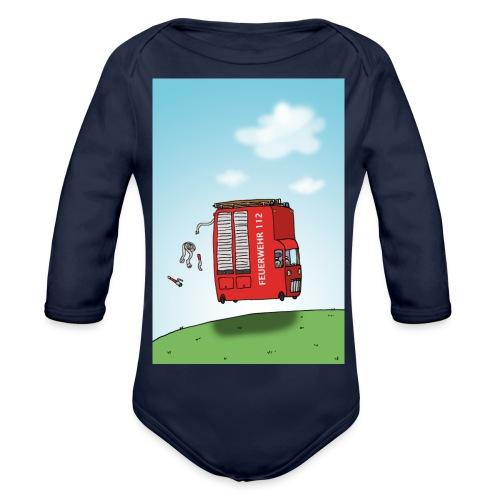 Feuerwehrwagen - Baby Bio-Langarm-Body