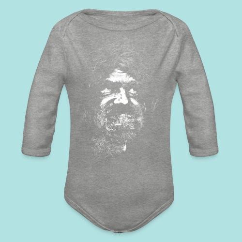 Old Guy, Eyes Open. - Organic Longsleeve Baby Bodysuit
