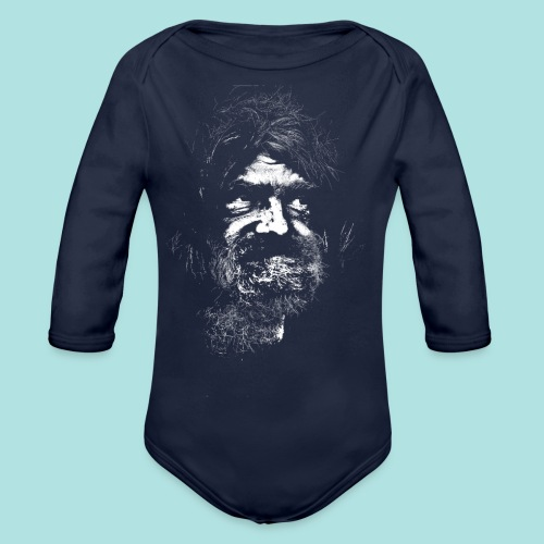 Old Guy, Eyes Open. - Organic Longsleeve Baby Bodysuit