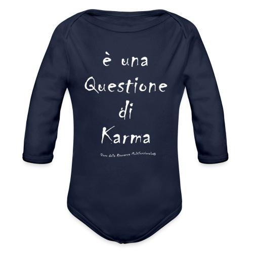 questione di Karma Bianco - Body ecologico per neonato a manica lunga