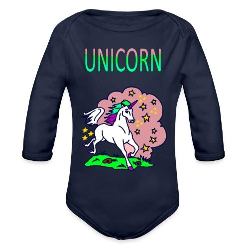 Einhorn unicorn - Baby Bio-Langarm-Body