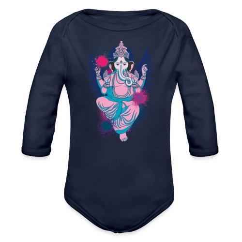 Ganesha dein Glücksgott macht den WEG frei - Baby Bio-Langarm-Body