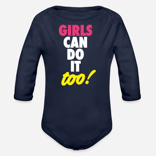 OmaAdele - Girls can do it too - Baby Bio-Langarm-Body