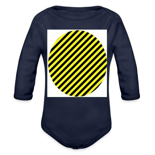 varninggulsvart - Ekologisk långärmad babybody