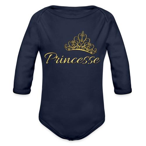 Princesse Or - by T-shirt chic et choc - Body Bébé bio manches longues