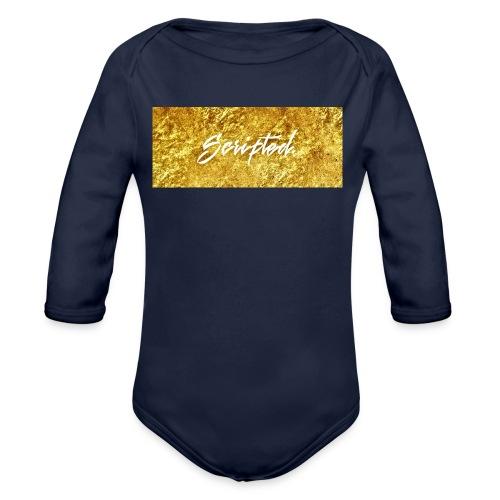 Scripted. Box Logo - Organic Longsleeve Baby Bodysuit