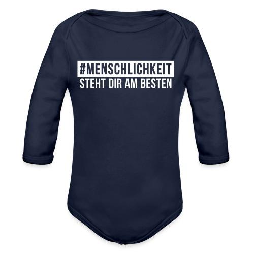 Unisex-Sweatshirt #Menschlichkeit - Baby Bio-Langarm-Body