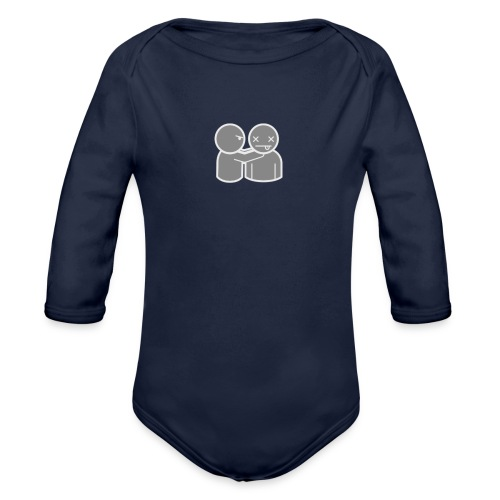 ghost 040 act 0070 png - Organic Longsleeve Baby Bodysuit