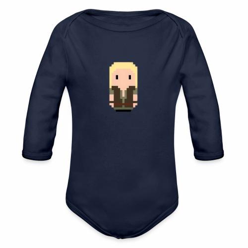 Robin Hood blonde hair - Organic Longsleeve Baby Bodysuit