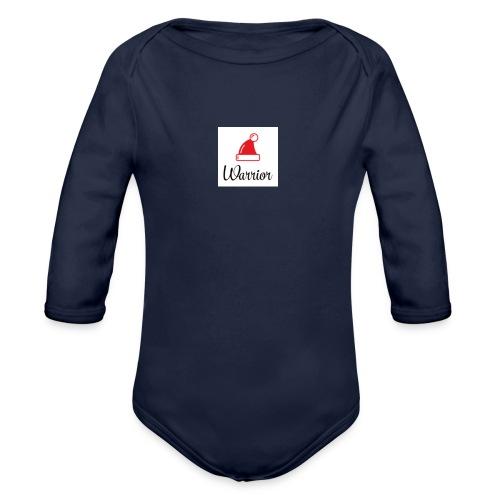 Warrior seires 1 OG christmas logo - Organic Longsleeve Baby Bodysuit