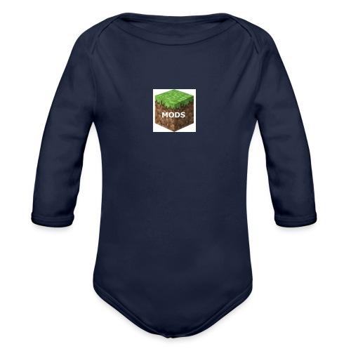 youtubelogo - Organic Longsleeve Baby Bodysuit