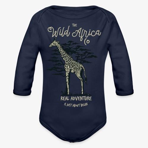 Giraffe - Baby Bio-Langarm-Body