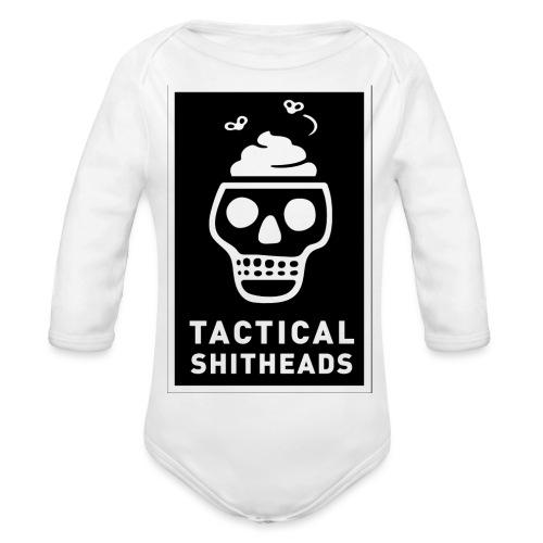 Tacshit Shitheadskull - Baby Bio-Langarm-Body