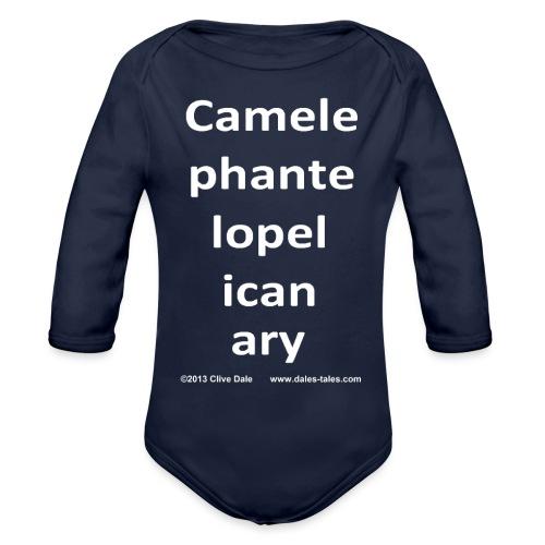 camelepha 5lines white - Organic Longsleeve Baby Bodysuit