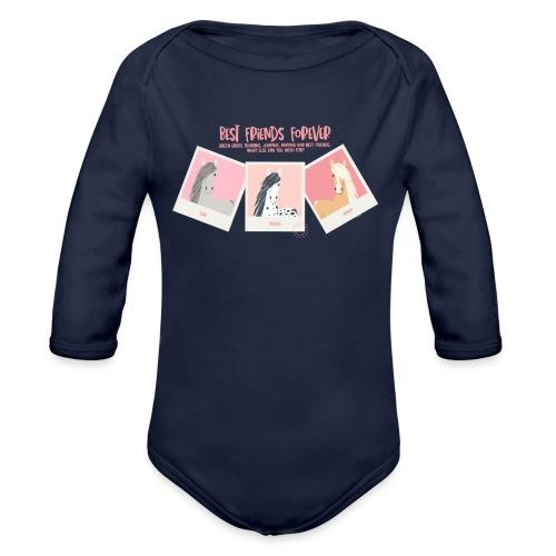 Best horse friends forever - Organic Longsleeve Baby Bodysuit