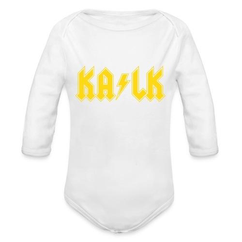 Kalk - Baby Bio-Langarm-Body