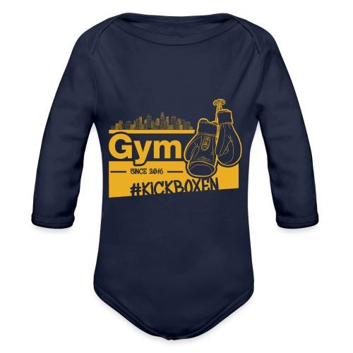 Gym Druckfarbe Orange - Baby Bio-Langarm-Body
