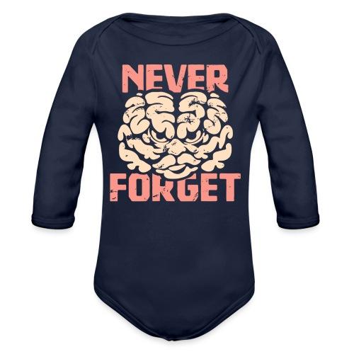 Never forget - Ekologisk långärmad babybody