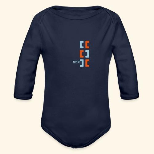Hoa original logo v2 - Organic Longsleeve Baby Bodysuit