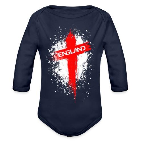 England Painted-Red - Organic Longsleeve Baby Bodysuit