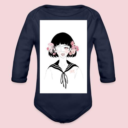 Flowerhead - Organic Longsleeve Baby Bodysuit