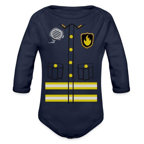 Firefighter Costume - Organic Longsleeve Baby Bodysuit