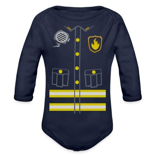 Fireman Costume - Dark edition - Organic Longsleeve Baby Bodysuit