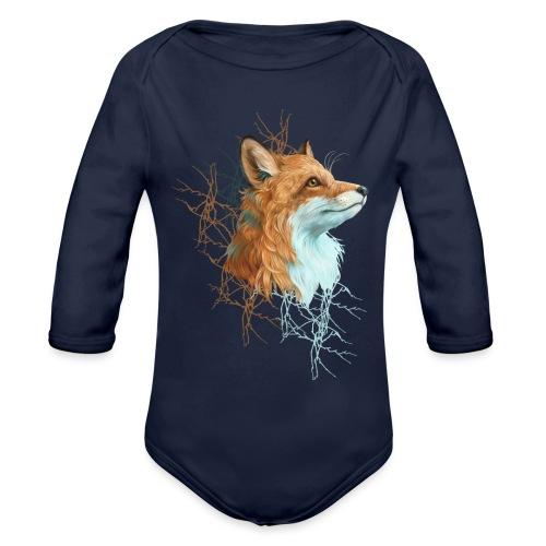 Happy the Fox - Baby Bio-Langarm-Body