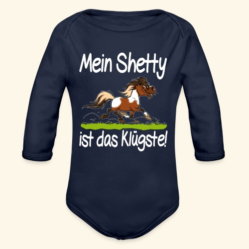 Mein Shetty das Klugste (Text weiss - Body Bébé bio manches longues
