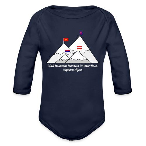 2018 W inter hash logo - Organic Longsleeve Baby Bodysuit