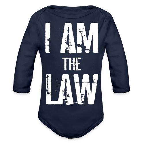 Tank top girl woman I AM THE LAW per avvocatessa - Organic Longsleeve Baby Bodysuit