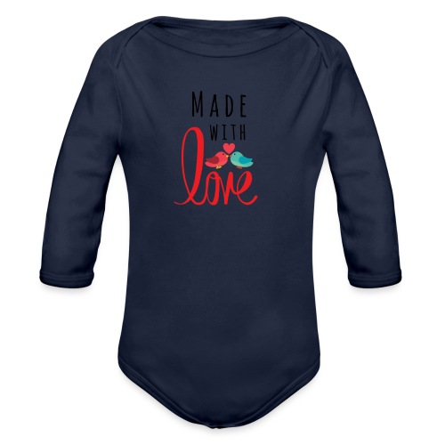 Made with love - Organic Longsleeve Baby Bodysuit