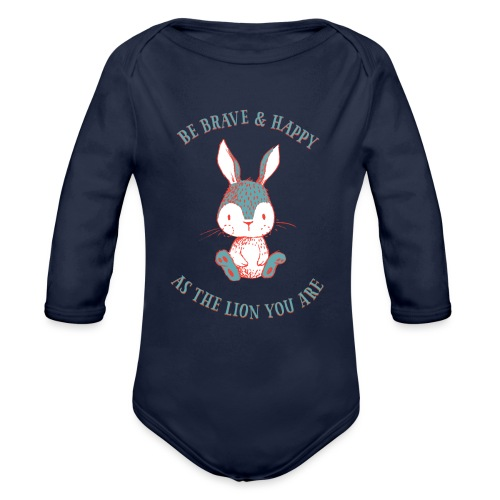 Brave rabbit - Organic Longsleeve Baby Bodysuit