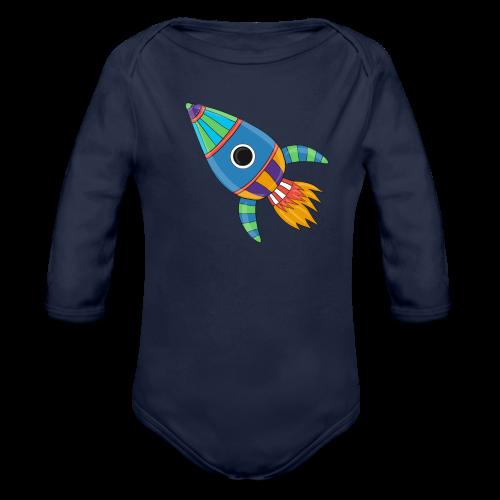 Bunte Rakete - Baby Bio-Langarm-Body