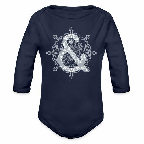 Escudo dark grey & ... - Body orgánico de manga larga para bebé