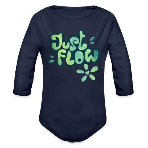Just flow Liquid Lettering - Baby Bio-Langarm-Body