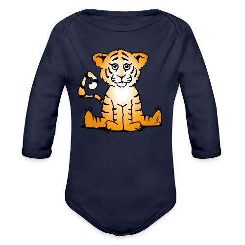 Tiger cub - Organic Longsleeve Baby Bodysuit