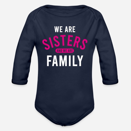 OmaAdele - We are sisters wht - Baby Bio-Langarm-Body