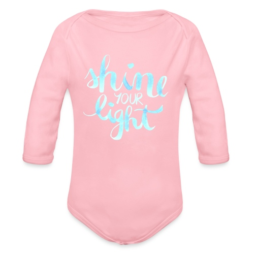 Shine your light lettering hell Affirmation - Baby Bio-Langarm-Body