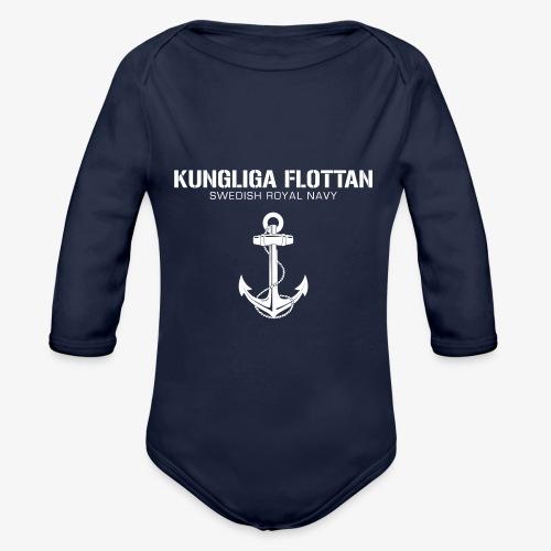 Kungliga Flottan - Swedish Royal Navy - ankare - Ekologisk långärmad babybody