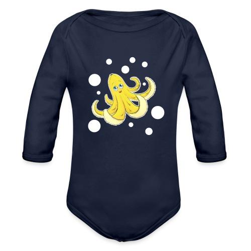 Bananen Oktopus - Oktopus Banane - Lustige Früchte - Baby Bio-Langarm-Body
