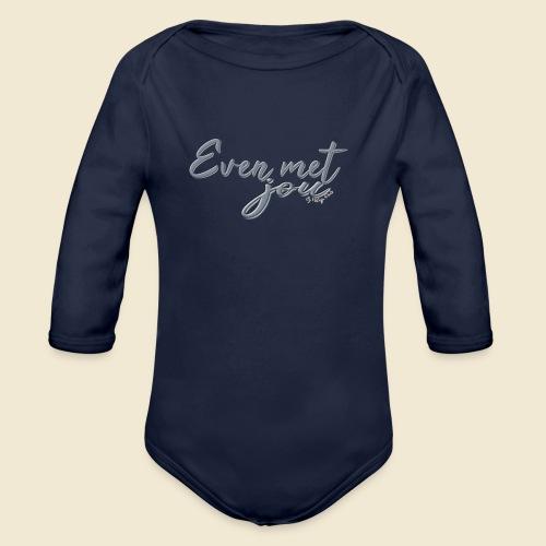 Even met jou II | by Natasja Poels - Baby bio-rompertje met lange mouwen